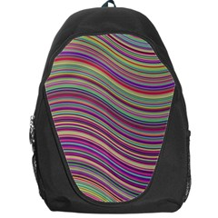 Wave Abstract Happy Background Backpack Bag