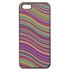 Wave Abstract Happy Background Apple iPhone 5 Seamless Case (Black)