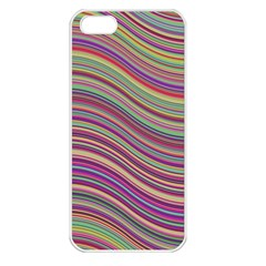 Wave Abstract Happy Background Apple iPhone 5 Seamless Case (White)