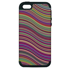 Wave Abstract Happy Background Apple iPhone 5 Hardshell Case (PC+Silicone)