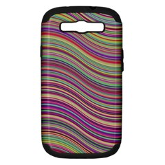 Wave Abstract Happy Background Samsung Galaxy S III Hardshell Case (PC+Silicone)
