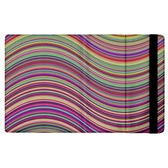 Wave Abstract Happy Background Apple iPad 2 Flip Case