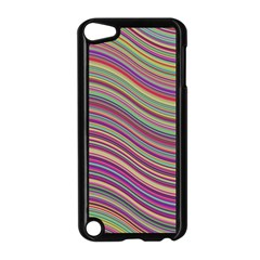 Wave Abstract Happy Background Apple iPod Touch 5 Case (Black)
