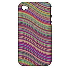 Wave Abstract Happy Background Apple iPhone 4/4S Hardshell Case (PC+Silicone)