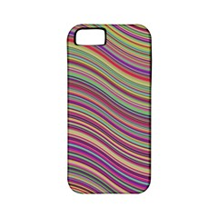 Wave Abstract Happy Background Apple iPhone 5 Classic Hardshell Case (PC+Silicone)