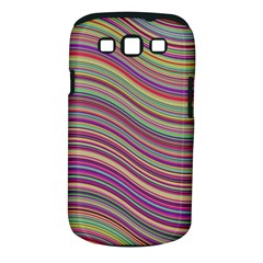 Wave Abstract Happy Background Samsung Galaxy S III Classic Hardshell Case (PC+Silicone)