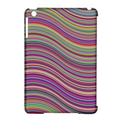 Wave Abstract Happy Background Apple iPad Mini Hardshell Case (Compatible with Smart Cover)