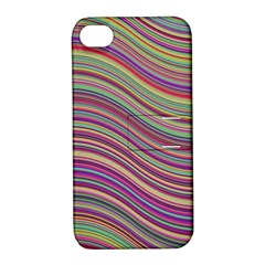 Wave Abstract Happy Background Apple iPhone 4/4S Hardshell Case with Stand