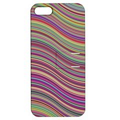 Wave Abstract Happy Background Apple iPhone 5 Hardshell Case with Stand