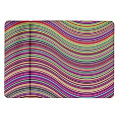 Wave Abstract Happy Background Samsung Galaxy Tab 10.1  P7500 Flip Case