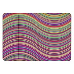 Wave Abstract Happy Background Samsung Galaxy Tab 8.9  P7300 Flip Case