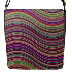 Wave Abstract Happy Background Flap Messenger Bag (S)