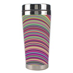 Wave Abstract Happy Background Stainless Steel Travel Tumblers