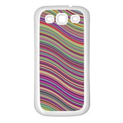 Wave Abstract Happy Background Samsung Galaxy S3 Back Case (White)