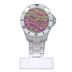Wave Abstract Happy Background Plastic Nurses Watch