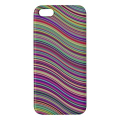 Wave Abstract Happy Background iPhone 5S/ SE Premium Hardshell Case