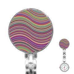 Wave Abstract Happy Background Stainless Steel Nurses Watch