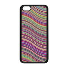 Wave Abstract Happy Background Apple iPhone 5C Seamless Case (Black)