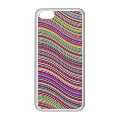 Wave Abstract Happy Background Apple iPhone 5C Seamless Case (White)