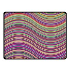 Wave Abstract Happy Background Double Sided Fleece Blanket (Small)