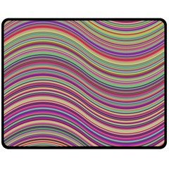 Wave Abstract Happy Background Double Sided Fleece Blanket (Medium)