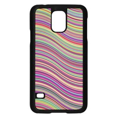 Wave Abstract Happy Background Samsung Galaxy S5 Case (Black)