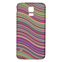 Wave Abstract Happy Background Samsung Galaxy S5 Back Case (White)
