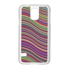 Wave Abstract Happy Background Samsung Galaxy S5 Case (White)