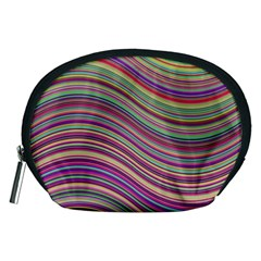 Wave Abstract Happy Background Accessory Pouches (Medium)