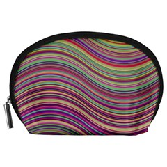 Wave Abstract Happy Background Accessory Pouches (large)