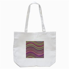 Wave Abstract Happy Background Tote Bag (White)