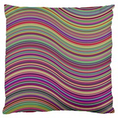 Wave Abstract Happy Background Large Flano Cushion Case (One Side)