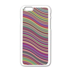 Wave Abstract Happy Background Apple iPhone 6/6S White Enamel Case