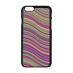 Wave Abstract Happy Background Apple iPhone 6/6S Black Enamel Case