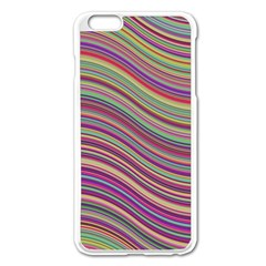 Wave Abstract Happy Background Apple iPhone 6 Plus/6S Plus Enamel White Case