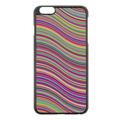 Wave Abstract Happy Background Apple iPhone 6 Plus/6S Plus Black Enamel Case