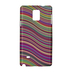 Wave Abstract Happy Background Samsung Galaxy Note 4 Hardshell Case