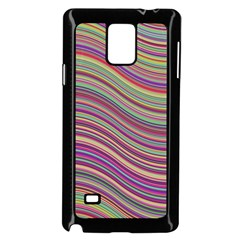 Wave Abstract Happy Background Samsung Galaxy Note 4 Case (Black)