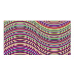 Wave Abstract Happy Background Satin Shawl