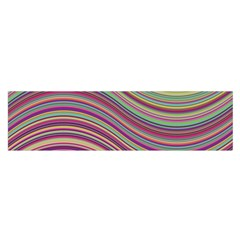 Wave Abstract Happy Background Satin Scarf (Oblong)