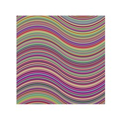 Wave Abstract Happy Background Small Satin Scarf (Square)