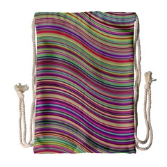 Wave Abstract Happy Background Drawstring Bag (Large)