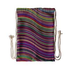 Wave Abstract Happy Background Drawstring Bag (Small)