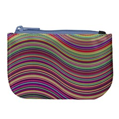 Wave Abstract Happy Background Large Coin Purse