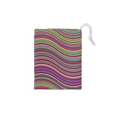 Wave Abstract Happy Background Drawstring Pouches (XS)