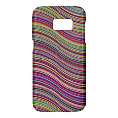Wave Abstract Happy Background Samsung Galaxy S7 Hardshell Case