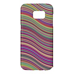 Wave Abstract Happy Background Samsung Galaxy S7 Edge Hardshell Case
