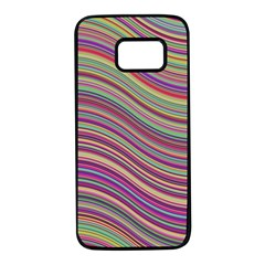 Wave Abstract Happy Background Samsung Galaxy S7 Black Seamless Case