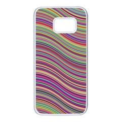 Wave Abstract Happy Background Samsung Galaxy S7 White Seamless Case