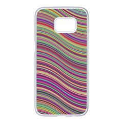 Wave Abstract Happy Background Samsung Galaxy S7 edge White Seamless Case